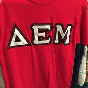 Delta Epsilon Mu - Red T-shirt